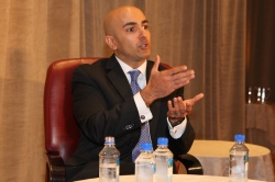 Former Asst. Treasury Secretary Neel Kashkari addresses NASABA.